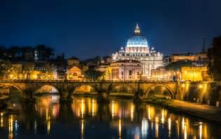 bilder rom italien vatican city br 252 cken nacht flusse