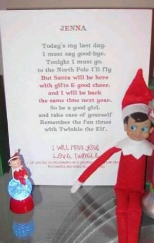 cute elf   shelf farewell letter  shirley elf
