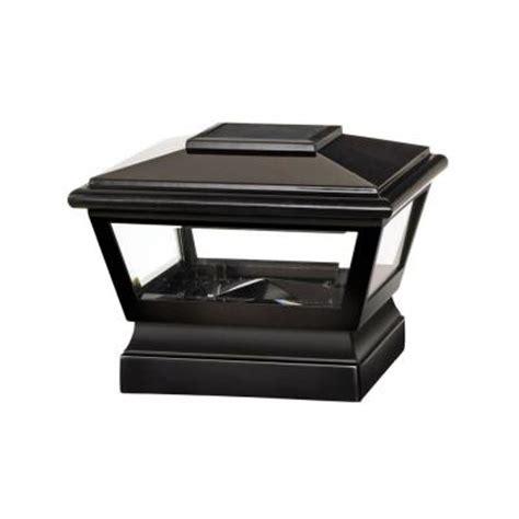 veranda 5 in x 5 in black vinyl solar light post cap