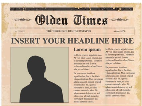 news article template editable powerpoint newspapers