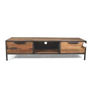 meuble tv indust docker en fer et bois recycl 233 livraison