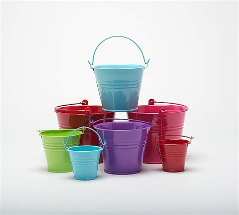 Miniatur Buket five 8 5cm metal buckets pots pails tins favours herb planter sweet tree ebay