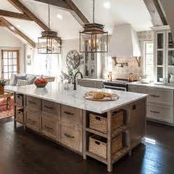 Hgtv s fixer upper farmhouse kitchen with stained kitchen island