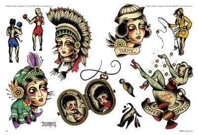 old school pin up tattoo designs school tattoos designs