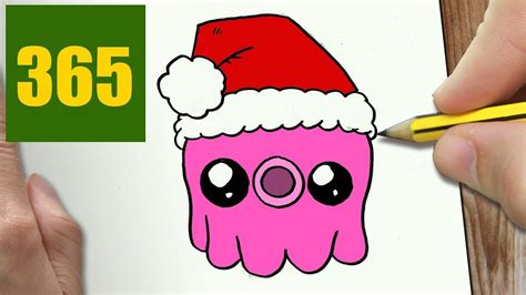 imagenes de dibujos de navidad kawaii come disegnare polipo di natale kawaii passo dopo passo