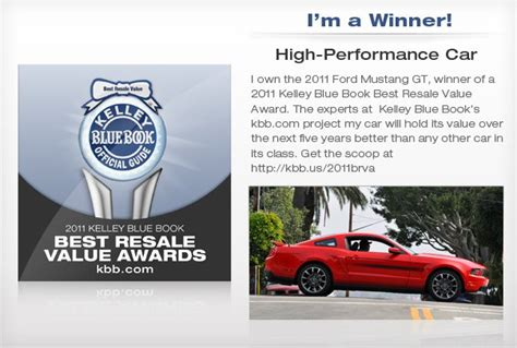 kelley blue book prices for used car resale and trade in values html autos weblog 2011 best resale value high performance car kelley blue book the mustang source ford