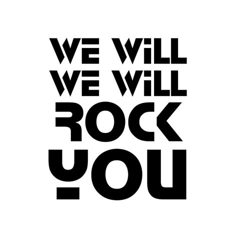Tshirt We Will Rock You shirt rock and roll we will rock you
