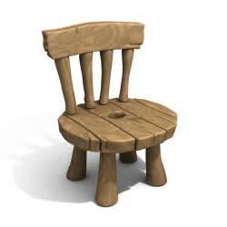 Medieval Chair Obj Cartoon Chair