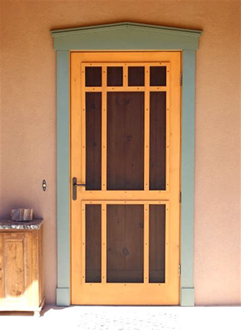 Handmade Screen Doors - the mission screen door custom screen doors santa fe