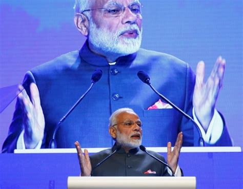 indian prime minister narendra modi delivers remarks to pm modi hailed by general for positive remarks on india china ties ibtimes india