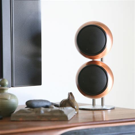 orb surround sound speakers classic two stereo speaker system copper orb audio