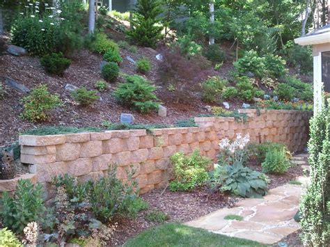 decorative concrete block retaining wall concrete block retaining walls control erosion asheville