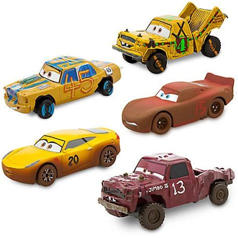 Cars 3 Mini Racers Dr Damage Hicks Dirt Mcqueen cars 3 toys popsugar