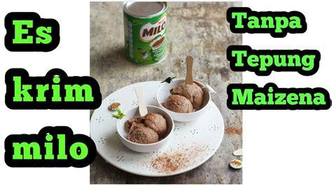 membuat es krim  tepung maizena youtube