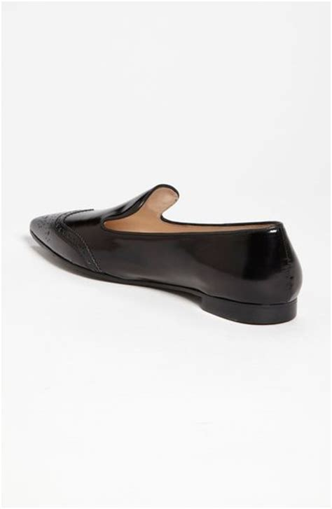 spectator loafers prada pointed toe spectator loafer in black lyst