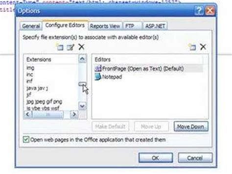 microsoft frontpage templates how to edit a php template in microsoft frontpage