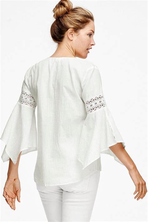 Blouse Af ellos collection bluse af 248 kologisk bomuld hvid dame