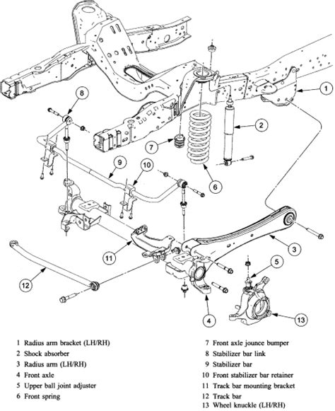 ford f250 parts diagram 2006 ford f250 front end parts diagram 1994 eagle vision