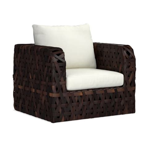 basket weave garden chairs basket weave outdoor lounge chair williams sonoma