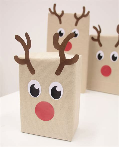 printable reindeer gift box diy reindeer gift wrapping free printables party
