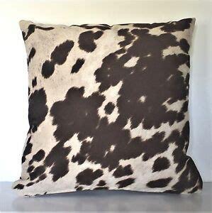 Western Cowhide Pillows - cowhide brown black beige faux fur pony throw sofa pillows