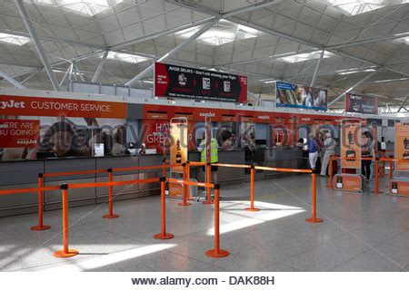 Gatwick Airport Easyjet Desk by Easyjet Check In Desk At Gatwick Airport Stock