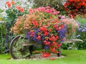 wheelbarrow planter container gardening