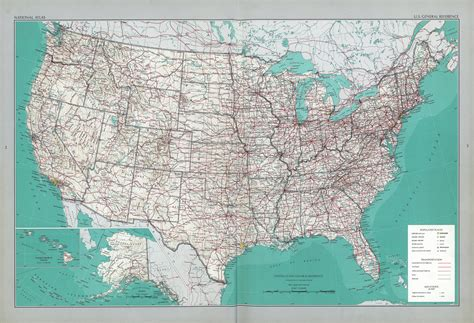printable road atlas maps the national atlas of the united states of america perry