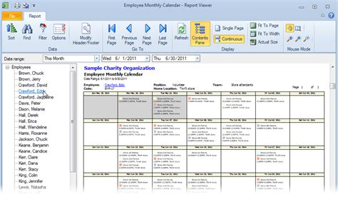 reporting schedule template monthly work schedule format