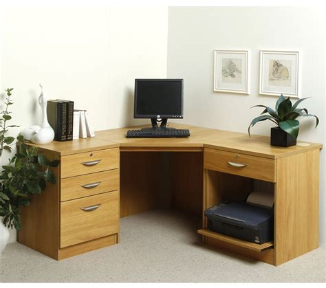 Hton Oak Corner Desk Oak Home Office Desk