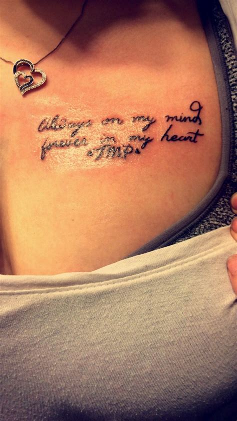 always in my heart tattoo my new always on my mind forever in my