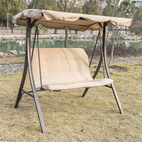 garden swing 2 person canopy swing glider hammock outdoor patio