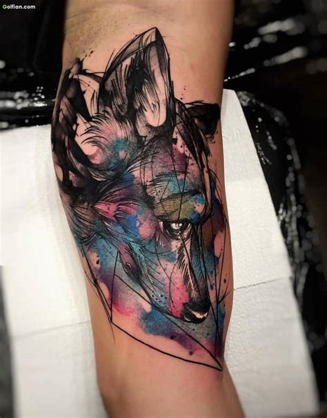 watercolor arm sleeve tattoo 1000 ideas about watercolor wolf on