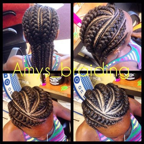 small braid by large braid 19 more big cornrow styles to feast your eyes on cornrow