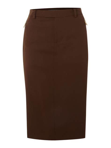 brown patterned pencil skirt lauren by ralph lauren high waisted wool pencil skirt in