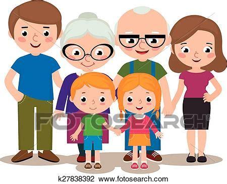 clipart famiglia clipart gruppo famiglia ritratto k27838392 cerca