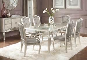 Dining Room Pedestal Tables sofia vergara paris champagne 7 pc dining room dining