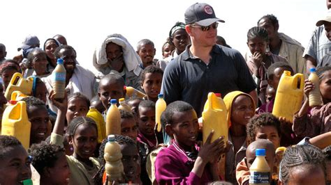 matt damon charity water matt damon s clean water mission abc news