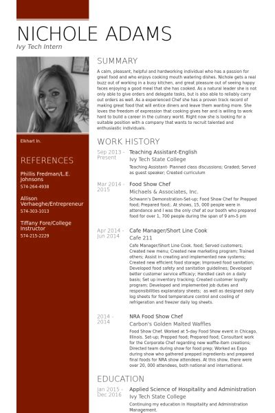 Resume Sample English by Teaching Assistant Resume Samples Visualcv Resume Samples