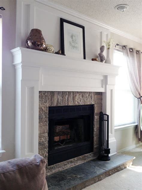 Redoing Fireplace Mantel by Diy Fireplace Mantel Redo Diyaffair