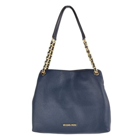 Michael Kors Jet Set Navy michael michael kors jet set chain navy shoulder bag