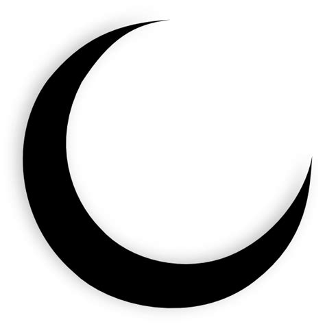moon tattoo png crescent moon black clip art at clker com vector clip