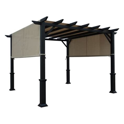 garden treasures pergola replacement canopy garden treasures 10 ft x 10 ft freestanding square pergola