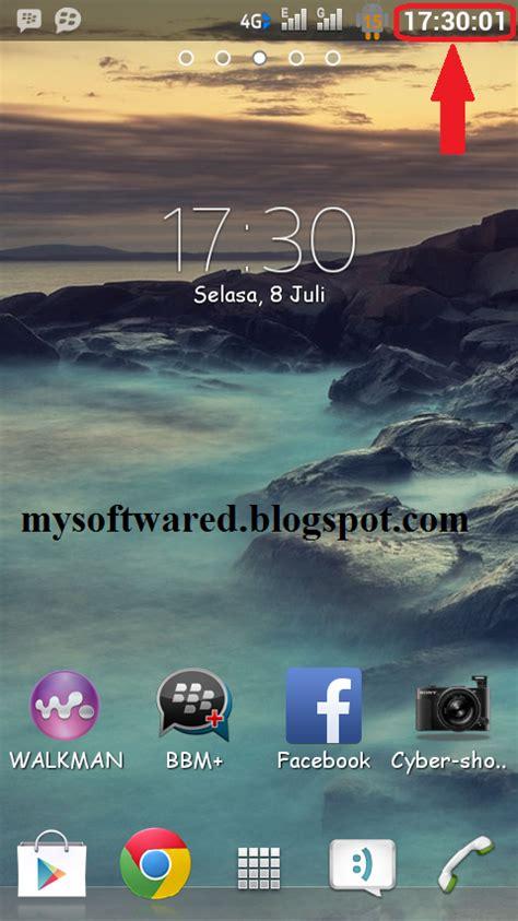 membuat jam digital statusbar menambahkan detik jam di status bar android