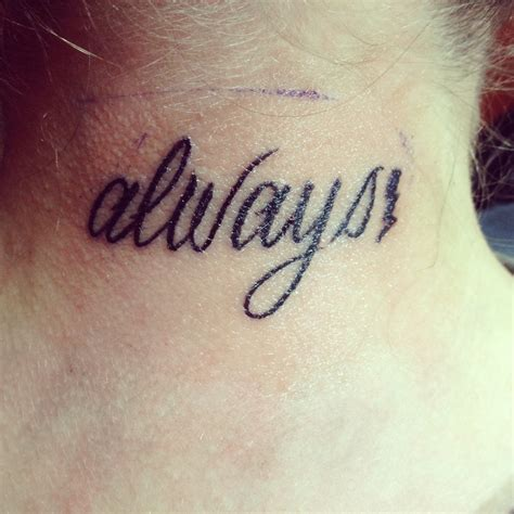 always tattoo harry potter harry potter always harry potter