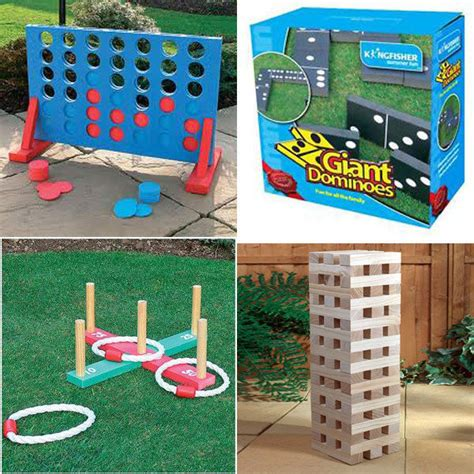 new backyard games new garden lawn bbq party games giant jenga dominoes