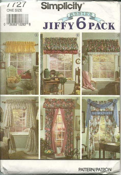 sewing patterns for curtains and valances simplicity sewing pattern 7727 home decor curtains drapes