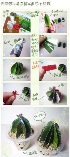 How To Make Paper Bushes - paper cactus crafts