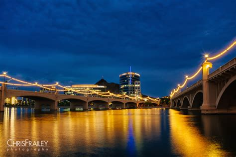 lights on tempe town lake