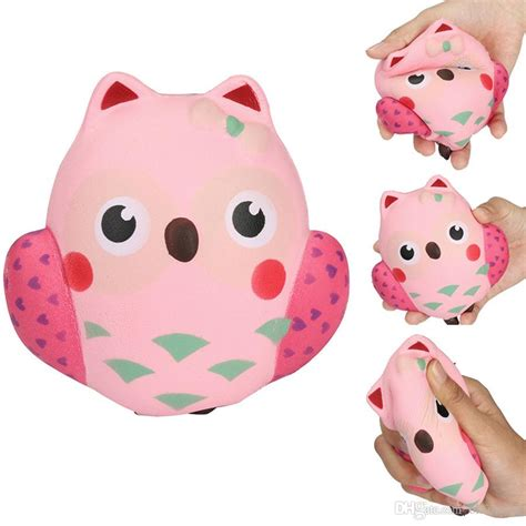 pink owl squishy jumbo kawaii squeeze bird animal